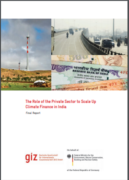 The Role of the Private Sector to Scale Up Climate Finance in India